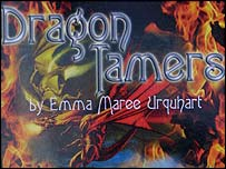 The cover of Emma's book, Dragon Tamers
