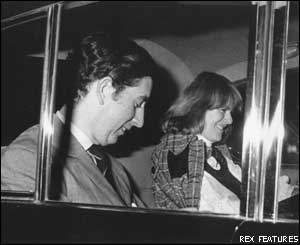 Prince Charles and Mrs Parker Bowles in a car (photo: Rex Features)