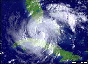Experts say Rita is strengthening to become a Category Four hurricane.  Hurricane Katrina was also Category Four.