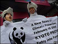 The Kyoto Protocol comes into force on Wednesday