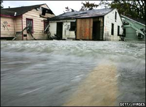 Parts of New Orleans have been hit by flood waters once again as Rita continues through the Gulf coast.