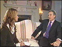 Ellie Crisell and Tony Blair