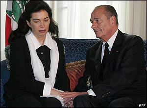 Nazik Hariri with Jacques Chirac