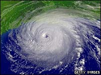 Satellite image of Hurricane Rita