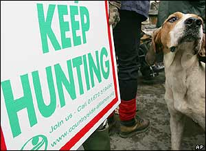 Hunt supporters