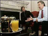Jamie Oliver and Tony Blair