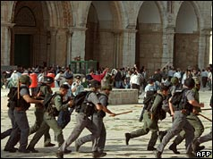 Troops at Al Aqsa