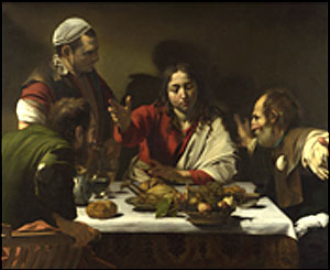The Supper at Emmaus (1601), The National Gallery, London