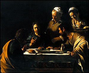 The Supper at Emmaus, (1606), Pinacoteca di Brera, Milan