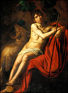 Saint John the Baptist, (around 1610), Museo Galleria Borghese, Rome