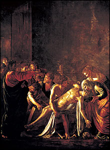 The Raising of Lazarus, (1608-9), Museo Regionale, Messina