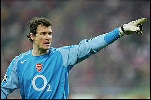 Arsenal keeper Jens Lehmann