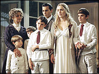 Joe [in front of Johnny Depp] played one of Kate Winslet's sons in Finding Neverland
