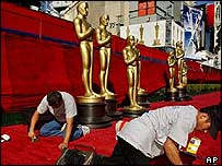 Workers get ready for The Oscars