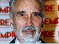 Christopher Lee as Saruman the wizard