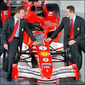 Schumacher, Barrichello and Ferrari