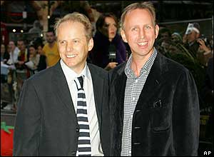 Film directors Nick Park and Steve Box