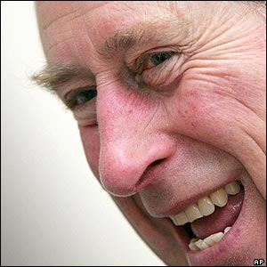 Prince Charles smiles at the Royal Perth Hospital