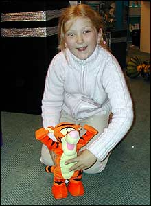 Lucy loved Tumble Time Tigger who somersaults around the room