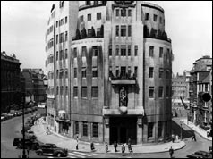 BBC Broadcasting House in the 1950s