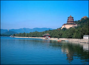 This is the Summer Palace in Beijing. Built in 1750, it has the world's biggest imperial garden