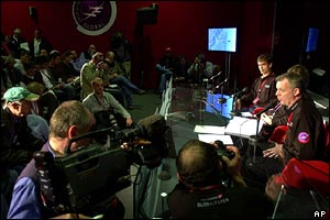 Mission control press briefing (AP)