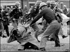 State trooper attacks black man - Selma, 1965