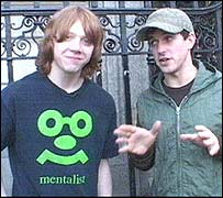 Rupert Grint with CBBC's Dom Wood