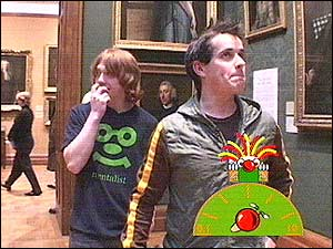 Is Rupert losing his nerve? Here he is biting his nails as Dom gets ready to bellow Bogies!
