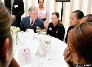 Prince Charles meeting young people