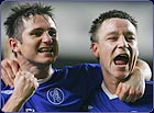 Chelsea's Frank Lampard and John Terry celebrate their win over Barcelona in the Champions League