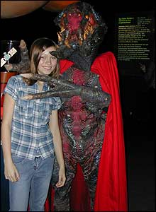 Lauren got up close and personal with some monsters at an alien exhibition at the Science Museum