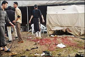Scene of aftermath of attack