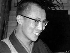 The Dalai Lama pictured in September 1959 in India
