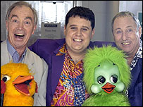 Bernie Clifton, Peter Kay and Keith Harris