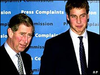 Prince Charles and Prince William at a PCC event