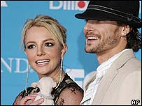 Britney Spears and her husband Kevin Federline