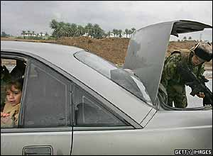 A child in a car in Iraq