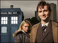 David Tennant as Doctor Who and Billie Piper as Rose