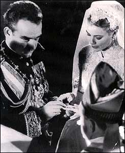 Prince Rainier and Grace Kelly in 1956