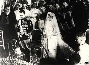 Marriage of Rainier to Grace Kelly in 1956