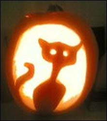 Gemma from Exeter made sure we got our paws on this feline pumpkin. Meoow!