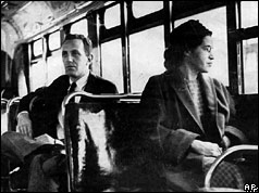 Rosa Parks (r) on bus