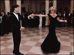 John Travolta dances with Diana, Princess of Wales