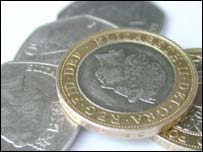 Two pound coins and 50p fifty pence pieces