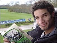 David James with his fave book The Hobbit