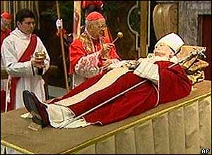 Pope's body lying in state