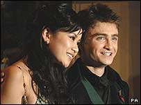 Daniel Radclife with co-star Cho Chang