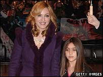 Madonna with her daughter Lourdes
