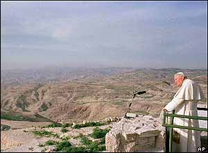 The Pope on Mount Nebo in Jordan